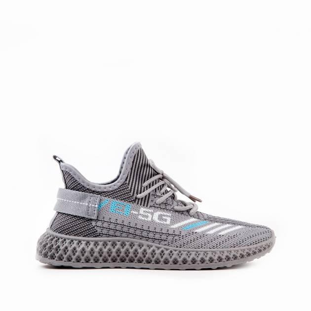 Легкие кроссовки из текстиля серого цвета