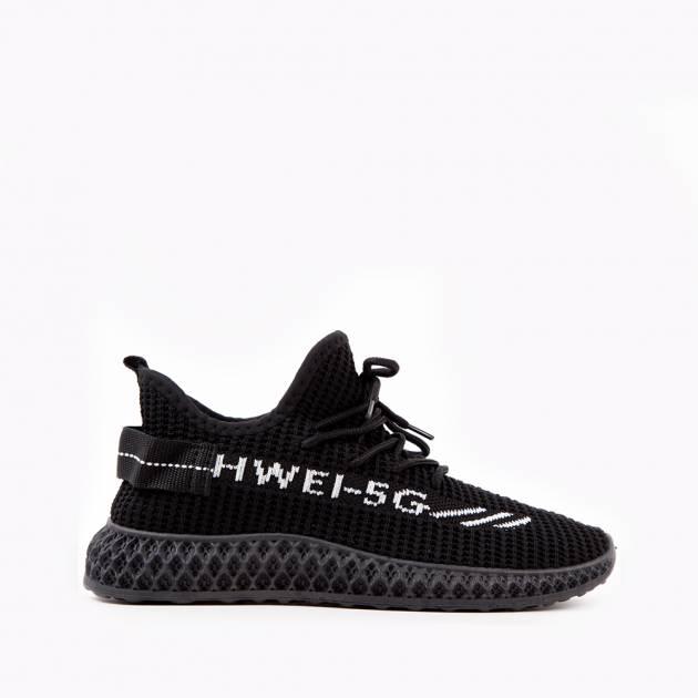 Легкие кроссовки черного цвета из текстиля