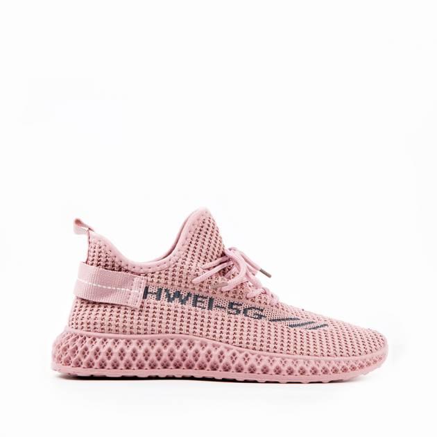 Легкие кроссовки розового цвета из текстиля