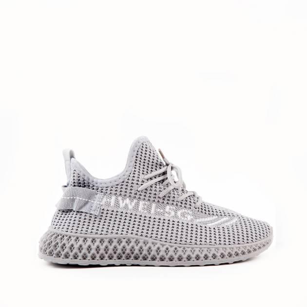 Лёгкие кроссовки из текстиля серого цвета