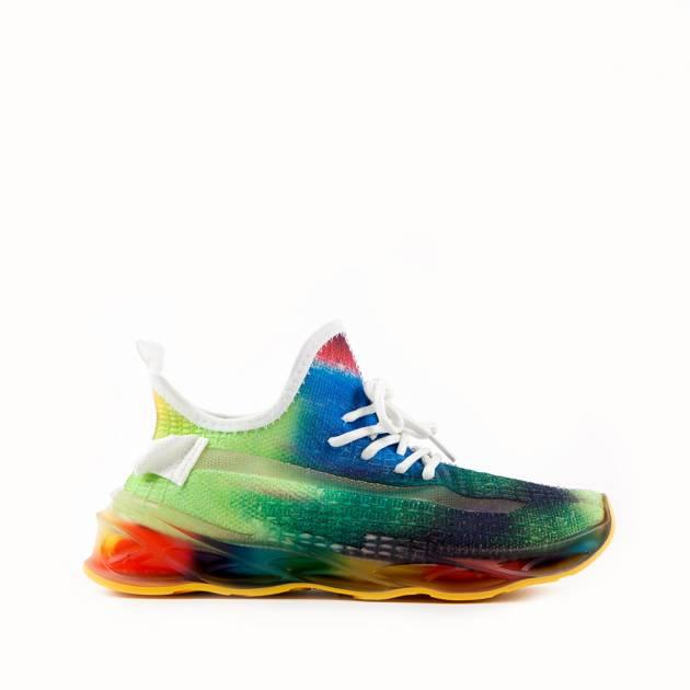 Мягкие кроссовки из текстиля космической расцветки