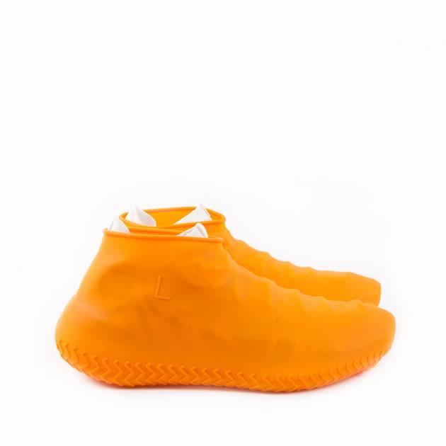 Галоши из силикона ярко-оранжевого цвета