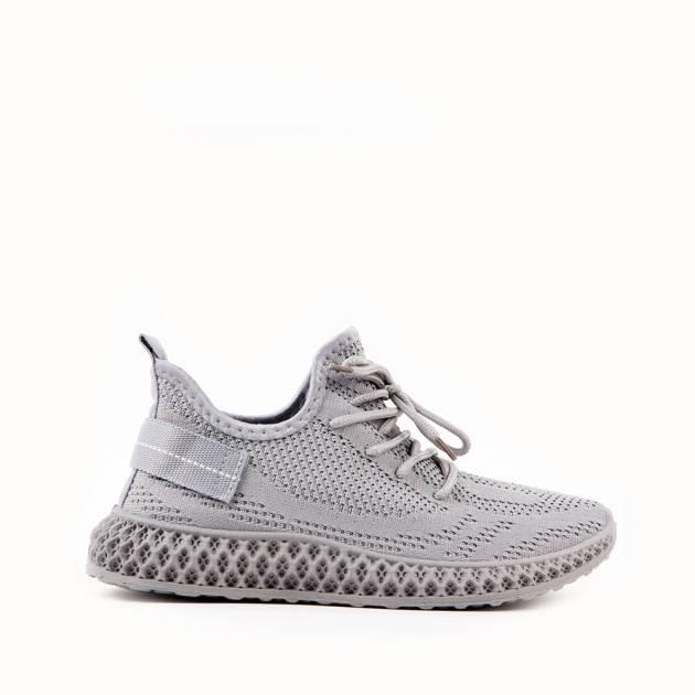 Лёгкие кроссовки из текстиля каменного цвета