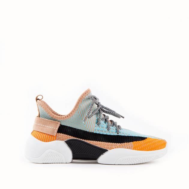 Лёгкие цветные кроссовки мультиколор
