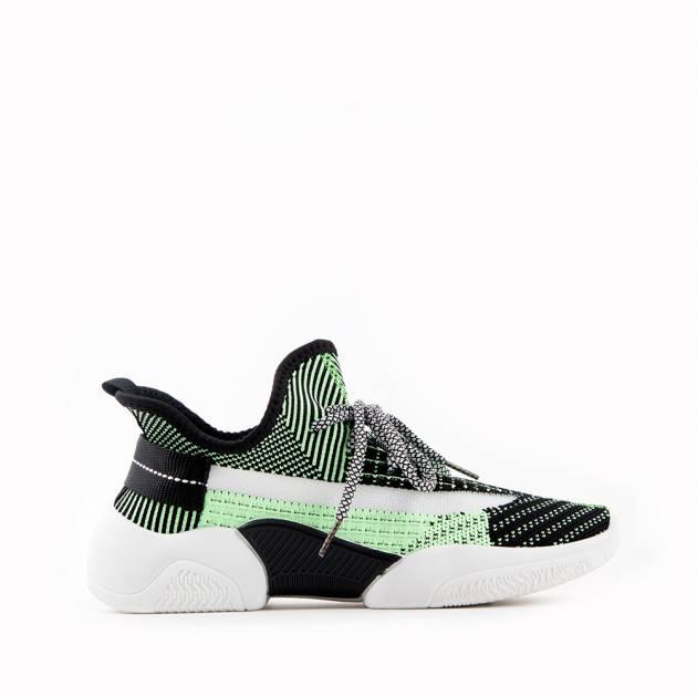 Лёгкие кроссовки из текстиля мультиколор