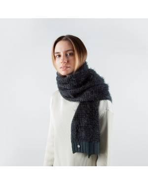 Шерстяной шарф серо-зелёного цвета