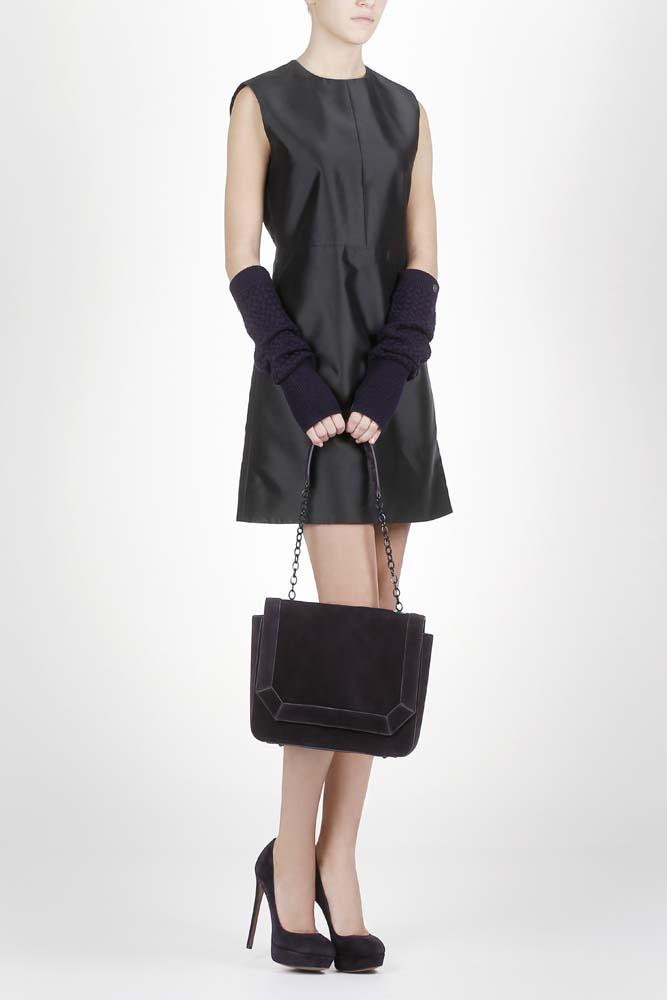 Женские перчатки CorsoComo (Корсо Комо) 77-607-5 без п. Перчатки жен текстиль фиол.
