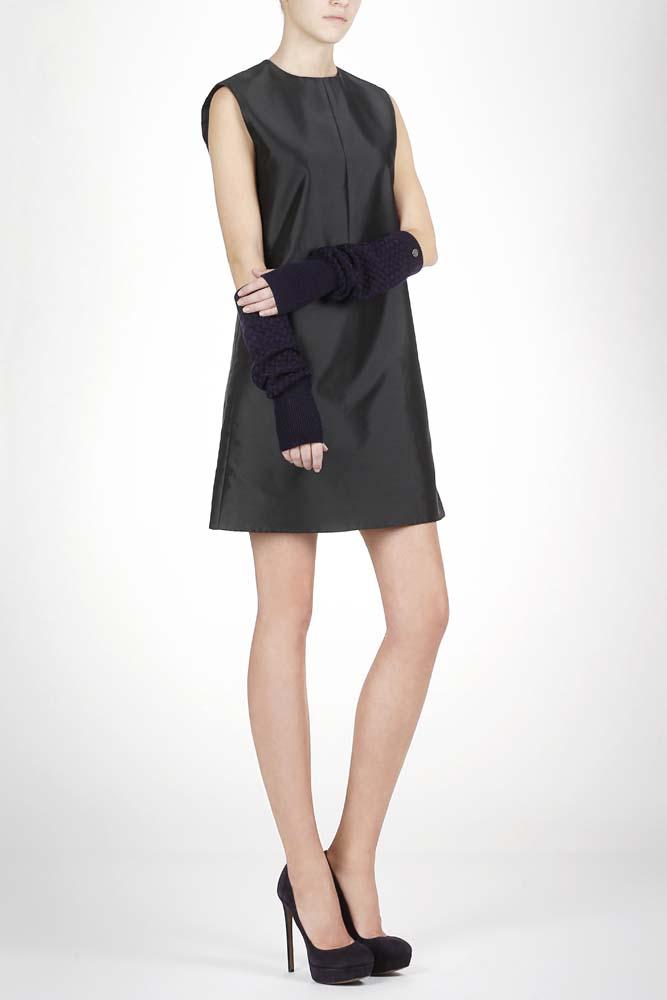 CORSOCOMO Митенки аметистового цвета с плетеным узором 77-607-5