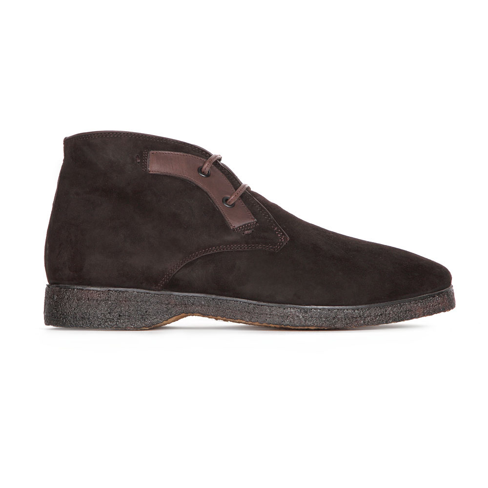 Ботинки-чукка из замши кофейного цвета с мехом
