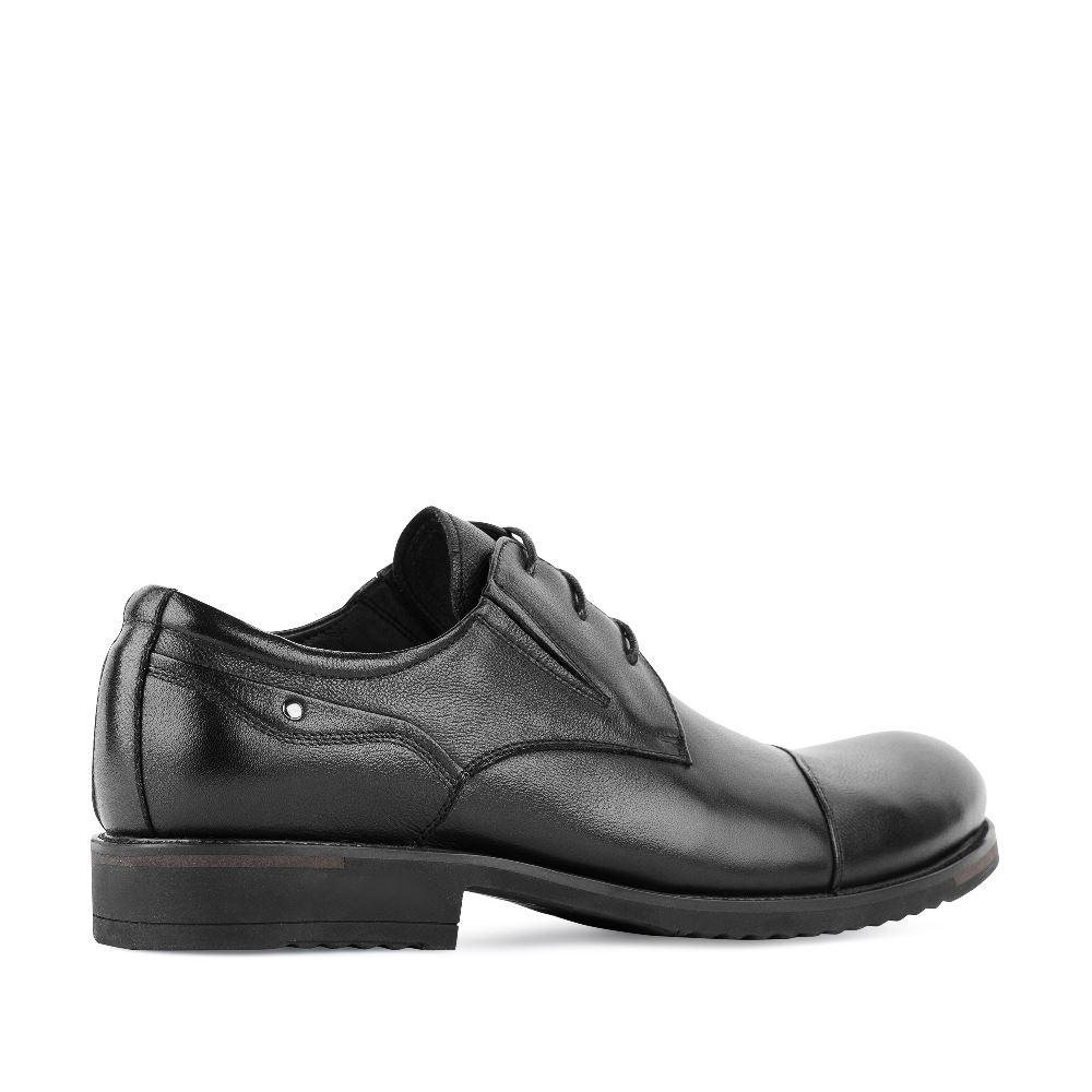 Мужские ботинки ROSCOTE Ботинки из кожи черного цвета на протекторе