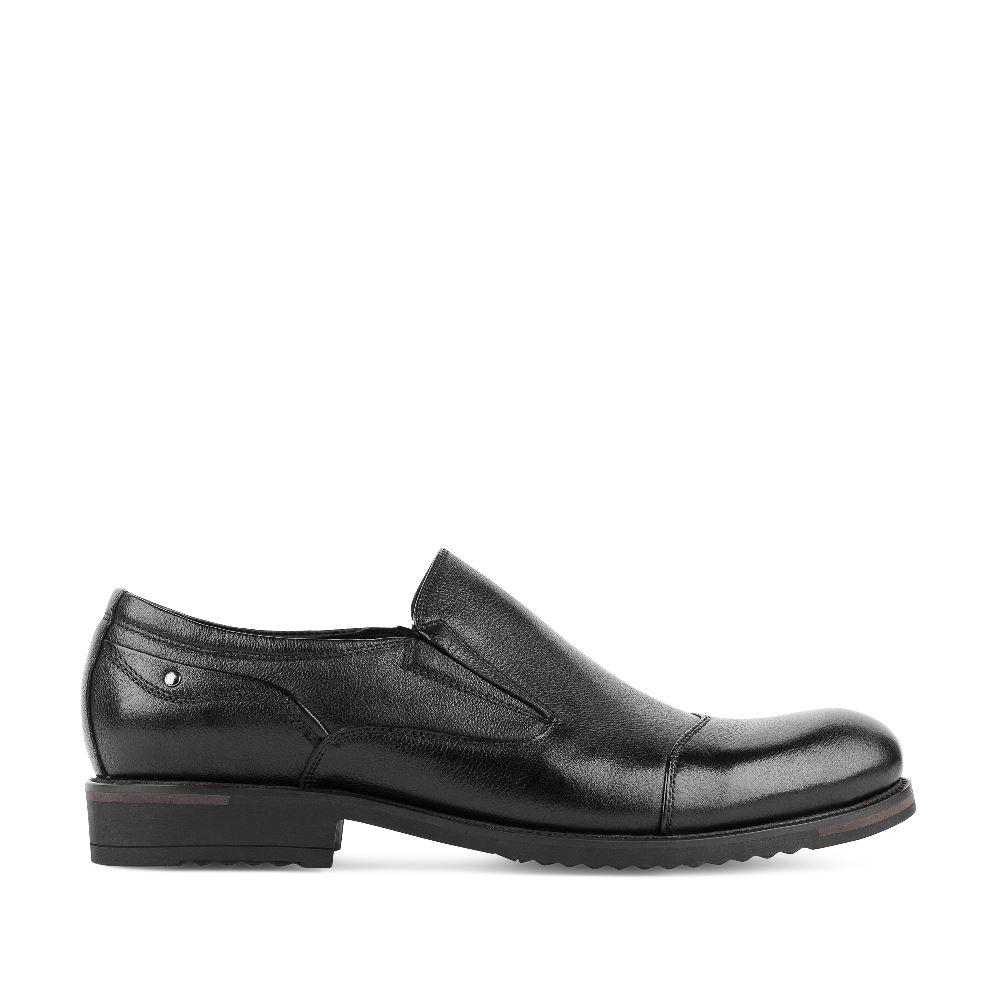 Ботинки из кожи черного цвета на протекторе