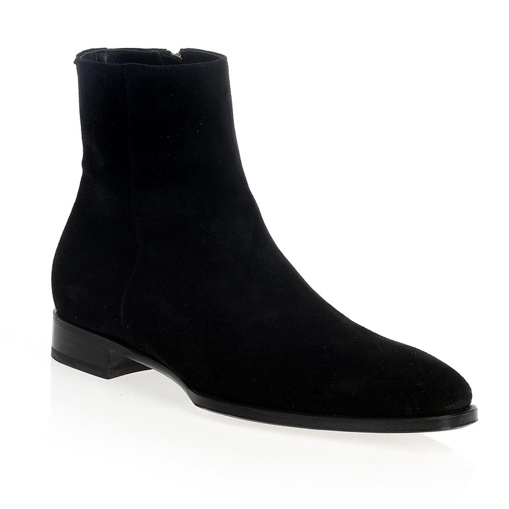 Мужские ботинки CorsoComo (Корсо Комо) 31-MV225 мех  Ботинки муж велюр черн.