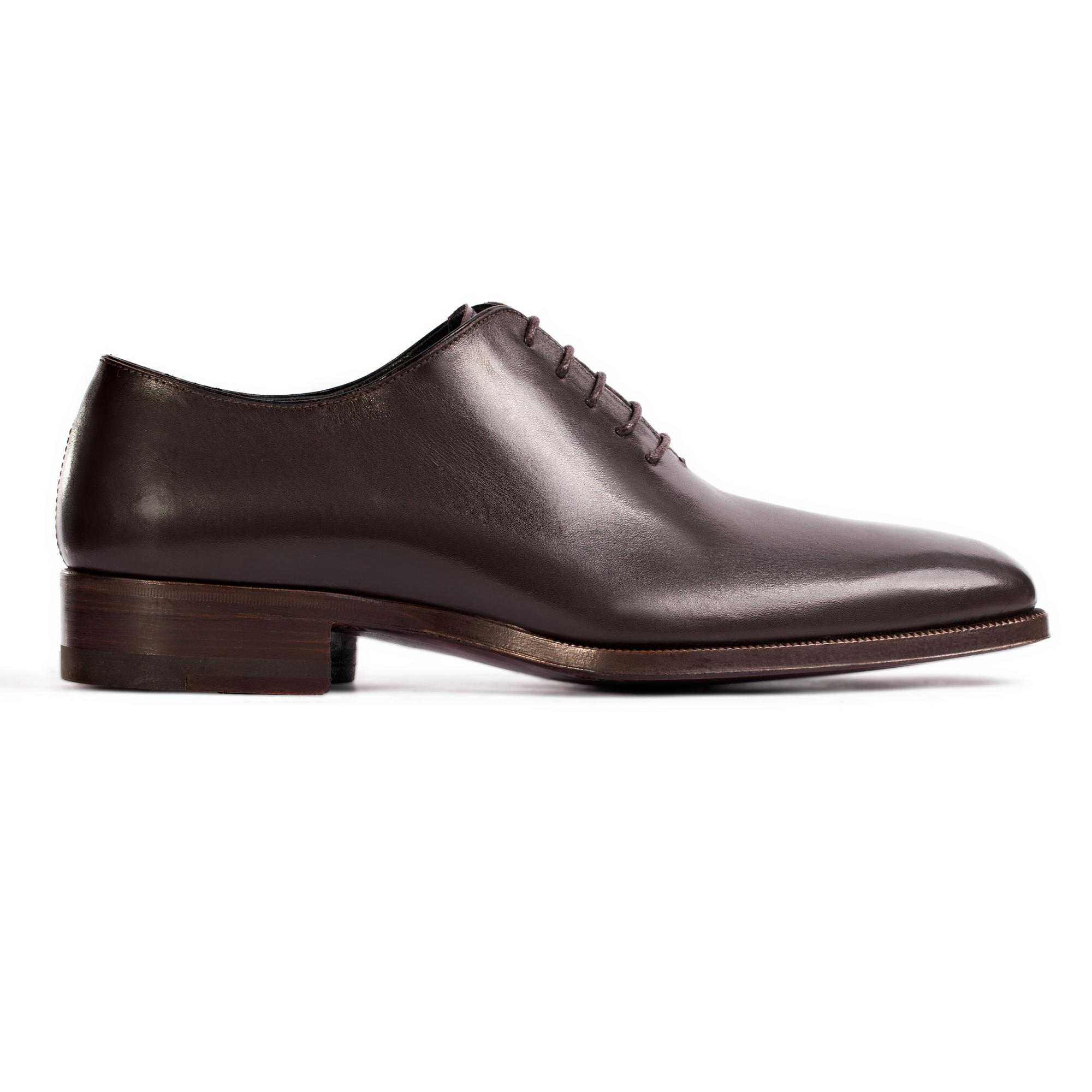 Ботинки из кожи кофейного цвета на шнуровке