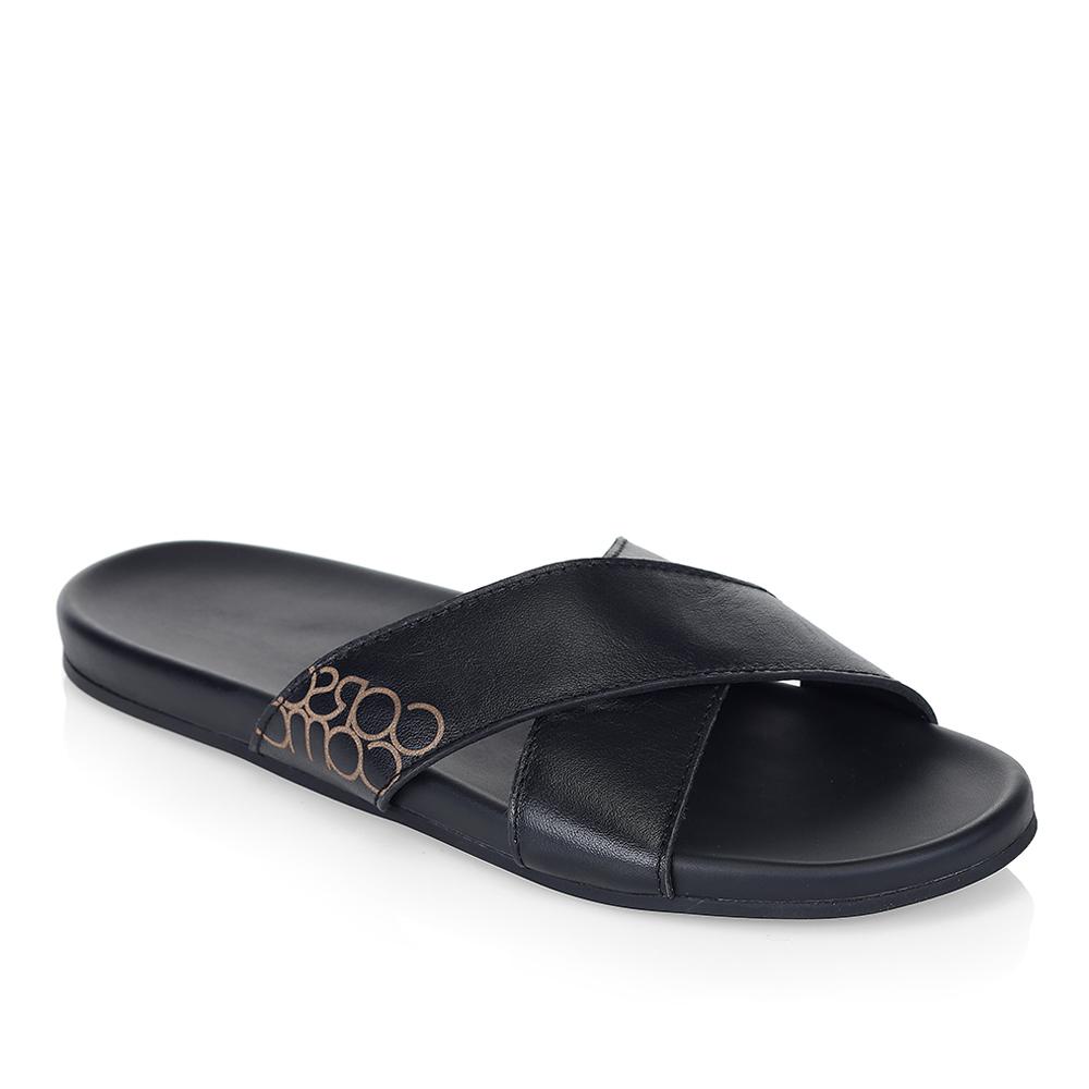 Мужские сандалии CorsoComo (Корсо Комо) 61-2726-3001-7 к.п. Пантолеты муж кожа черн.