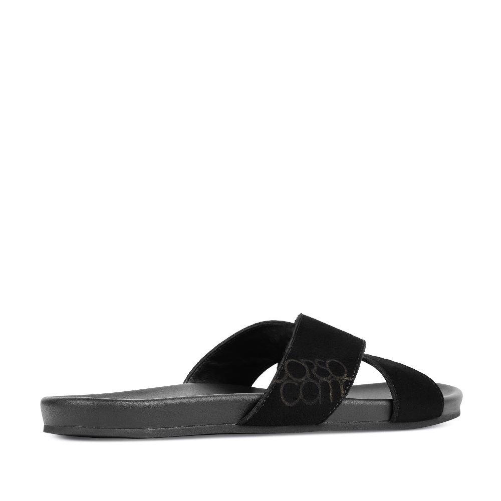 Мужские сандалии CorsoComo (Корсо Комо) 61-2726-30158-7 к.п. Пантолеты муж велюр черн.