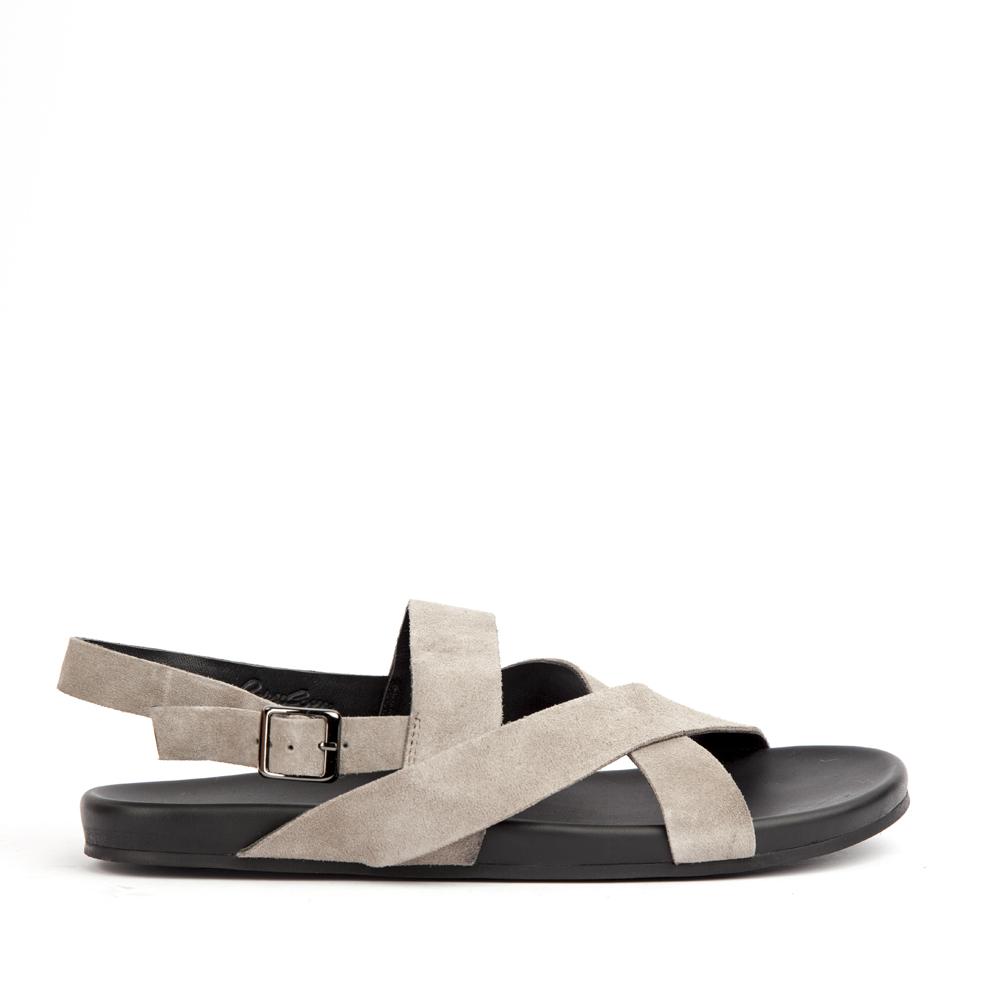 Мужские сандалии CorsoComo (Корсо Комо) 61-2726-38106-7 к.п. Сандалеты муж спилок сер.