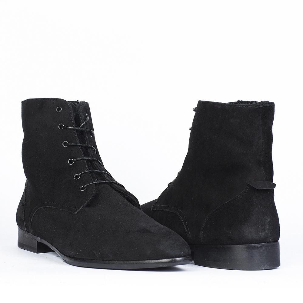 Мужские ботинки CorsoComo (Корсо Комо) 88-010-7136-7m мех Ботинки муж велюр черн.