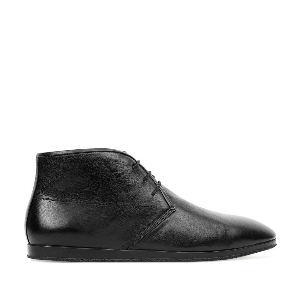 CORSOCOMO Ботинки-чукка из кожи черного цвета 88-013-103284-7