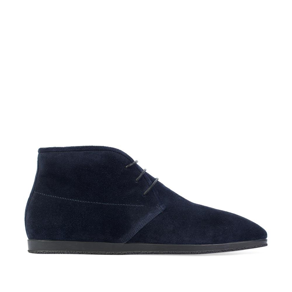 Замшевые ботинки-чукка темно-синего цвета