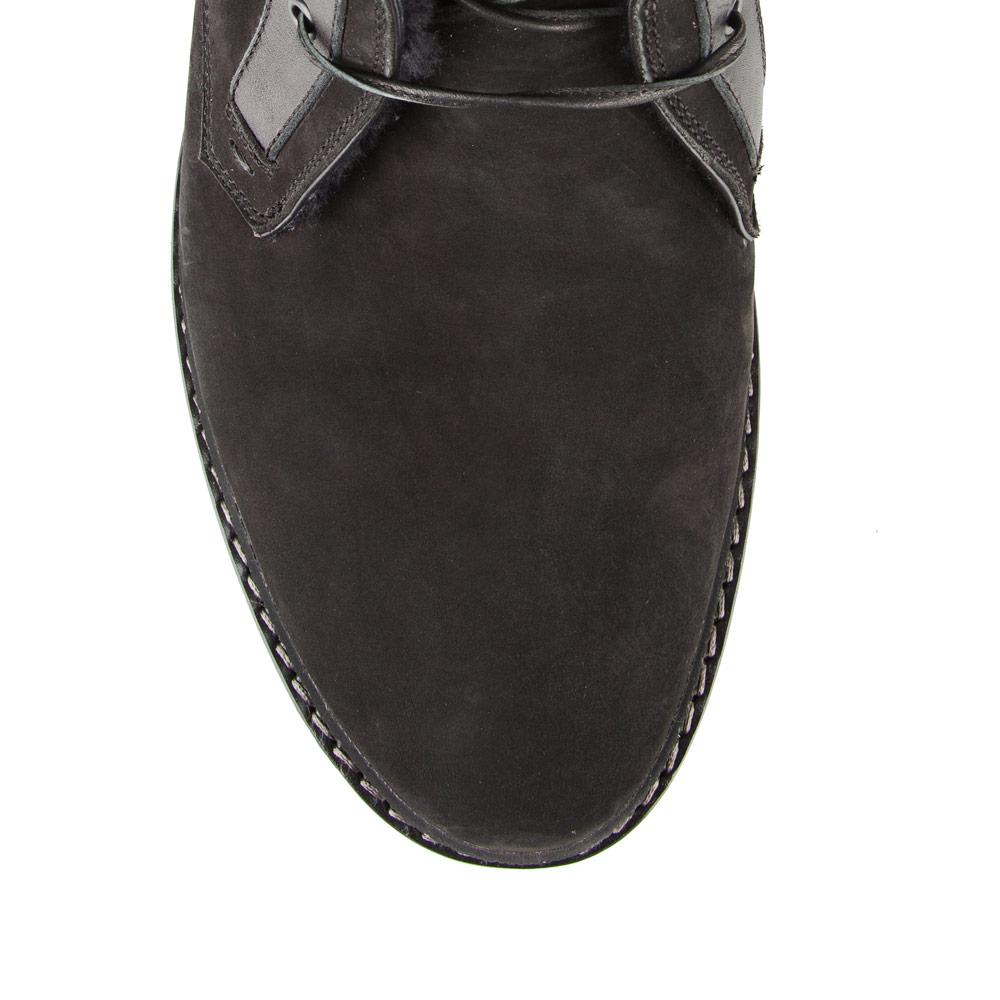 Мужские ботинки CorsoComo (Корсо Комо) 88-0345-06175-2 мех Ботинки муж нубук черн.