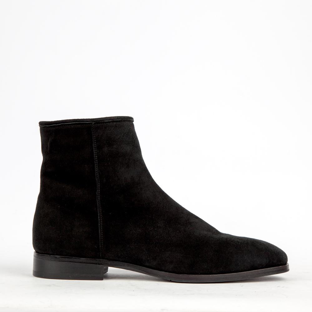 CORSOCOMO Ботинки замшевые чёрного цвета на меху 88-060-5036-7m