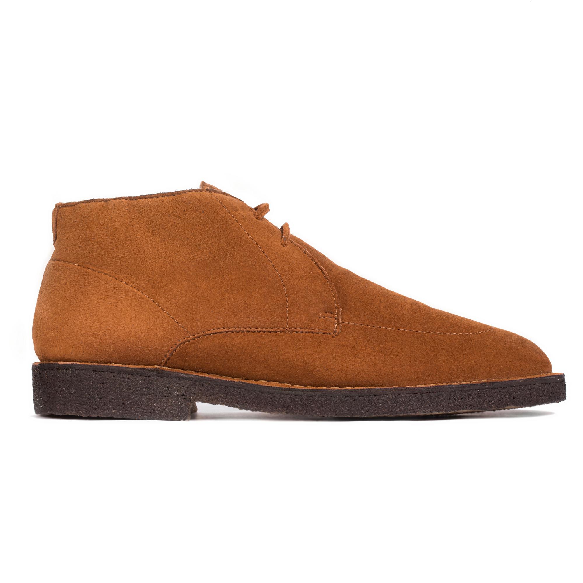 Ботинки-чукка из замши коричневого цвета с мехом