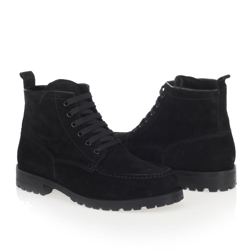 Мужские ботинки CorsoComo (Корсо Комо) 88-3206-02285-7 к.п. Ботинки муж спилок чёрн.