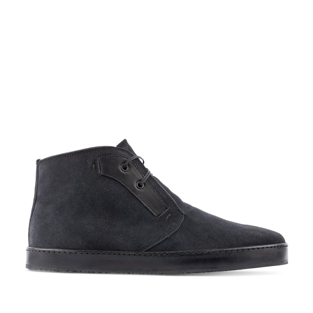 Ботинки-чукка из замши черничного цвета с мехом