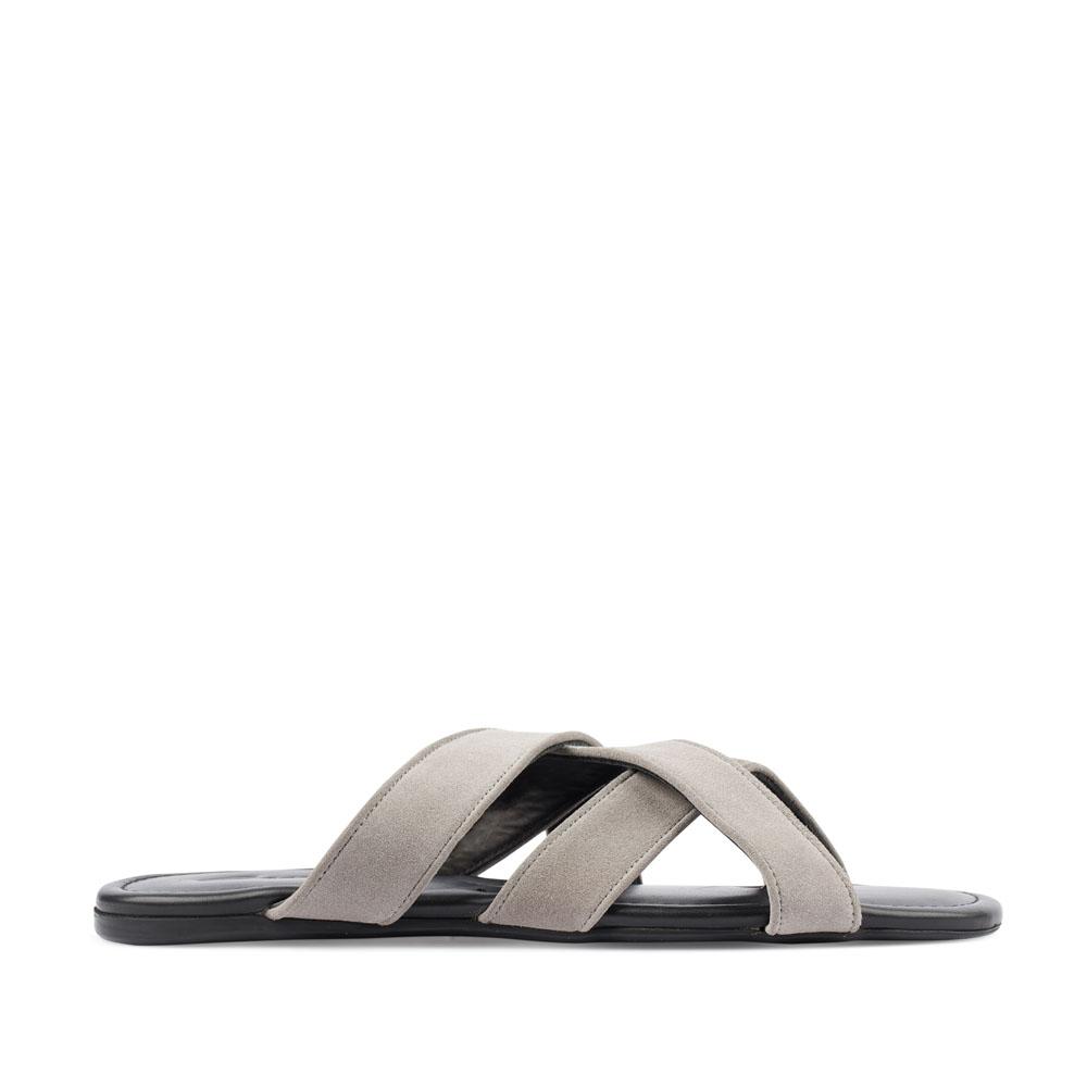 Мужские сандалии CorsoComo (Корсо Комо) 88-801-64141-7 к.п. Пантолеты муж спилок сер.