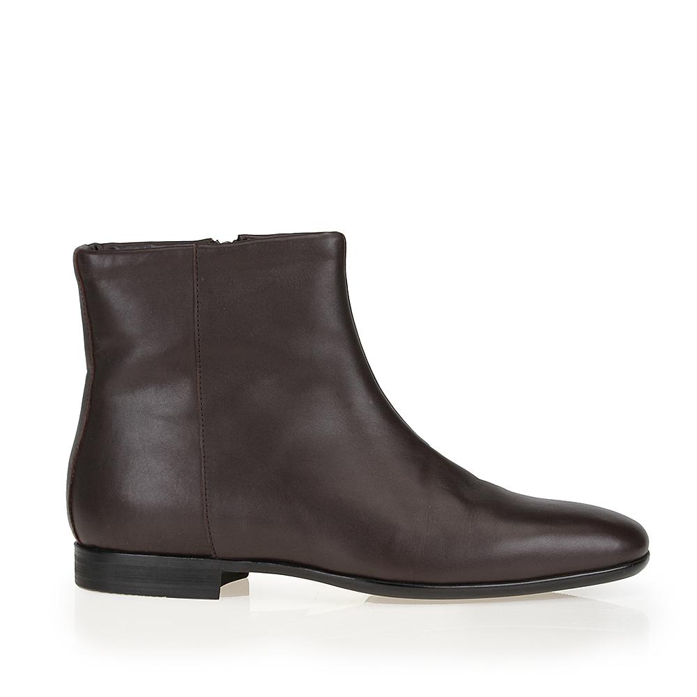CORSOCOMO Кожаные ботинки каштанового цвета с мехом на молнии 98-020-1210-2
