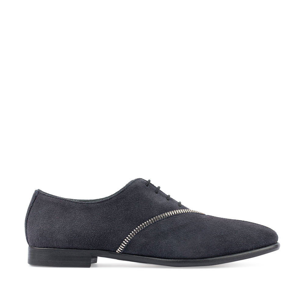 CORSOCOMO Замшевые туфли темно-синего цвета с декоративной молнией 98-178-21305-7