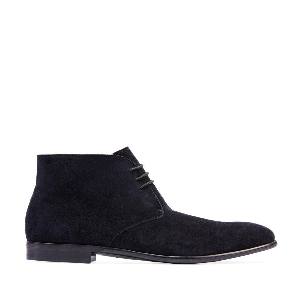 Ботинки-чукка из замши темно-синего цвета