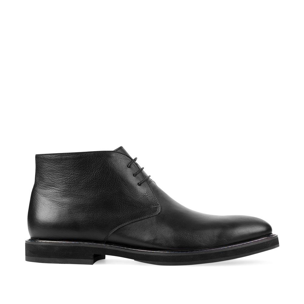 Кожаные ботинки-чукка черного цвета
