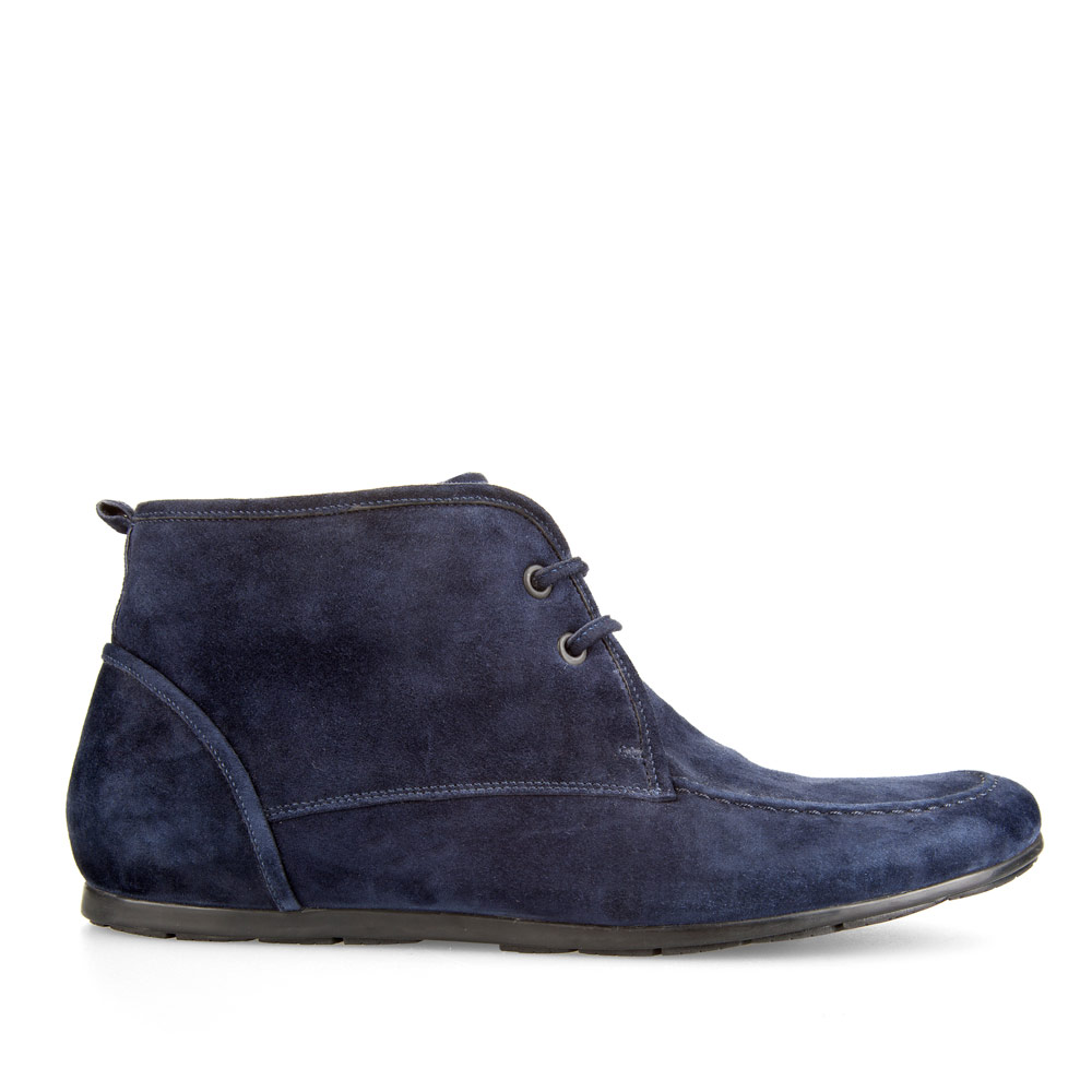 CORSOCOMO Ботинки из замши цвета ночного неба на шнуровке с мехом 98-235H-0254-2
