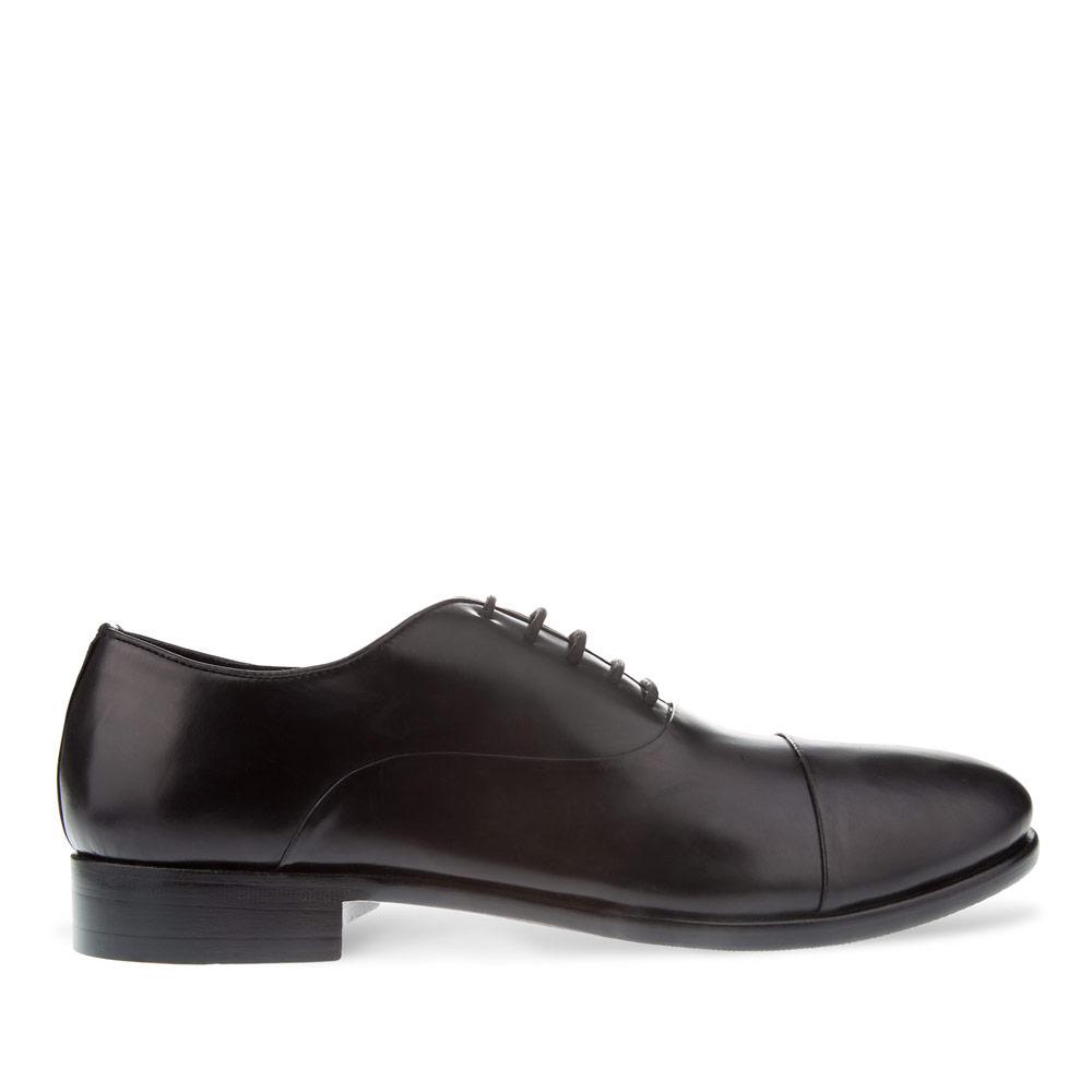 CORSOCOMO Ботинки из кожи черного цвета на шнуровке 98-237-0287-7