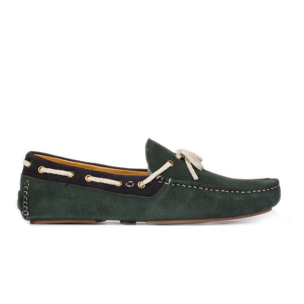 Мокасины из замши темно-зеленого цвета с декоративным шнуркомМокасины мужские<br><br>Материал верха: Замша<br>Материал подкладки: Кожа<br>Материал подошвы: Полиуретан<br>Цвет: Зеленый<br>Высота каблука: 0 см<br>Дизайн: Италия<br>Страна производства: Китай<br><br>Высота каблука: 0 см<br>Материал верха: Замша<br>Материал подкладки: Кожа<br>Цвет: Зеленый<br>Пол: Мужской<br>Вес кг: 1.16000000<br>Выберите размер обуви: 44