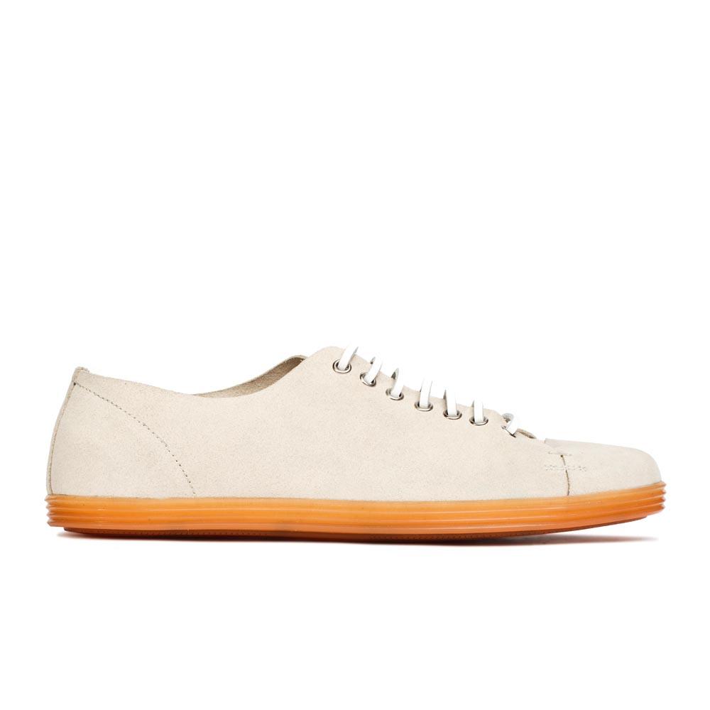 CORSOCOMO Полуботинки из замши белого цвета на шнуровке 98-380-02188-7