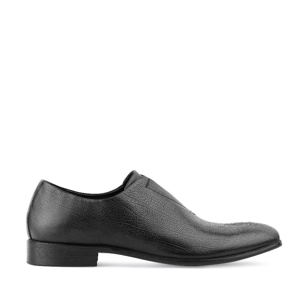 Ботинки из зернистой кожи черного цвета