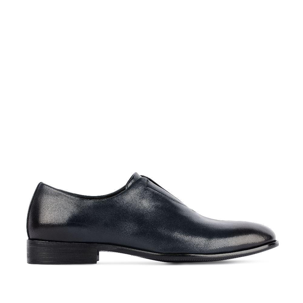 Ботинки темно-синего цвета из кожи