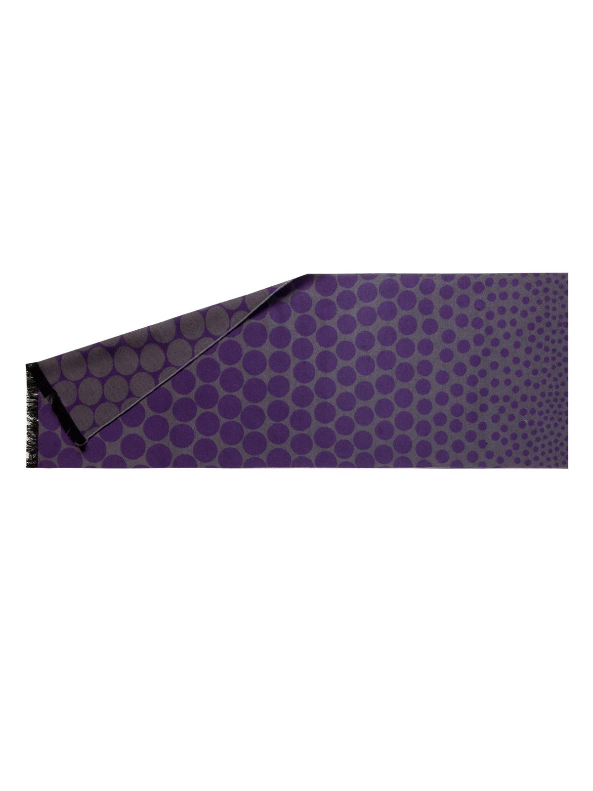 CORSOCOMO Шарф из шелка фиолетового цвета с принтом LJG34-336-10 шелк+виск 30