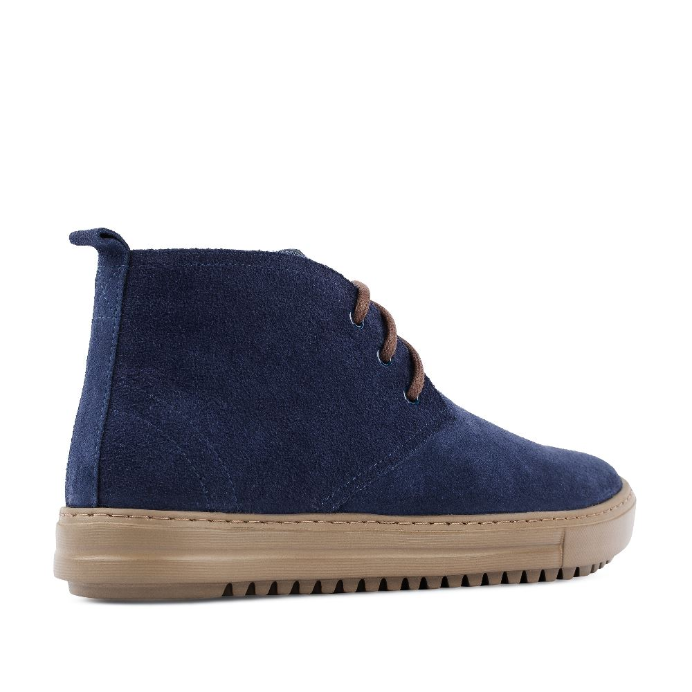 Мужские ботинки POBLENOU Ботинки из замши синего цвета