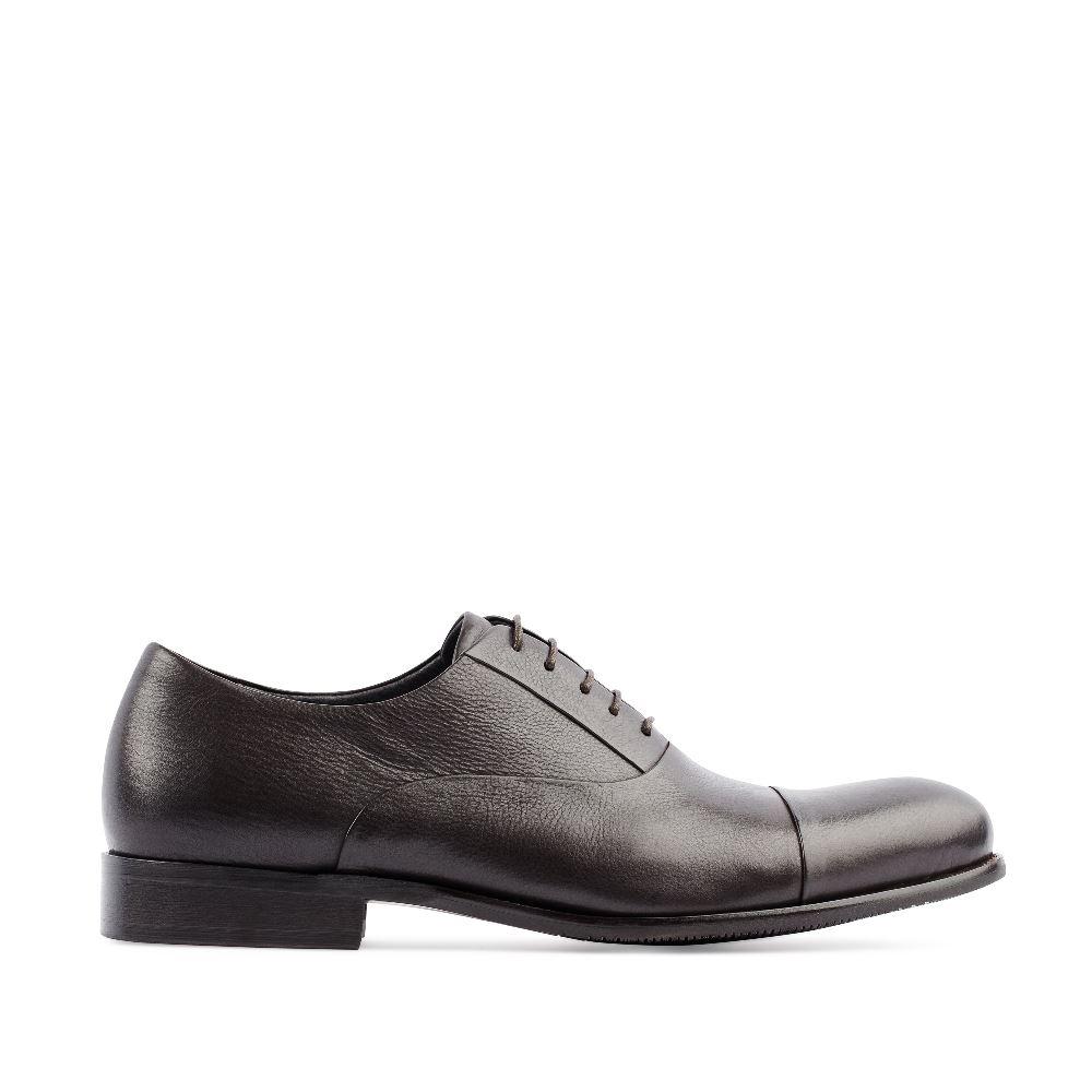 Кожаные ботинки коричневого цветаПолуботинки<br><br>Материал верха: Кожа<br>Материал подкладки: Кожа<br>Материал подошвы: Кожа<br>Цвет: Коричневый<br>Высота каблука: 2 см<br>Дизайн: Италия<br>Страна производства: Россия<br><br>Высота каблука: 2 см<br>Материал верха: Кожа<br>Материал подкладки: Кожа<br>Цвет: Коричневый<br>Пол: Мужской<br>Размер: 44