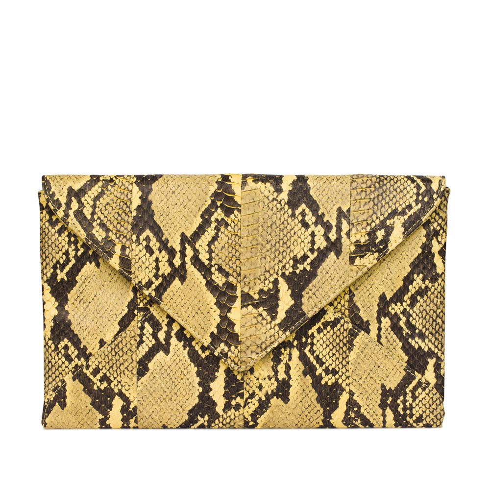 Клатч-конверт из кожи змеи