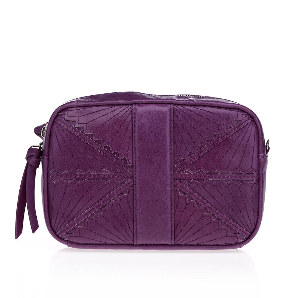 CORSOCOMO Кожаный клатч фиолетового цвета 05-22798G4