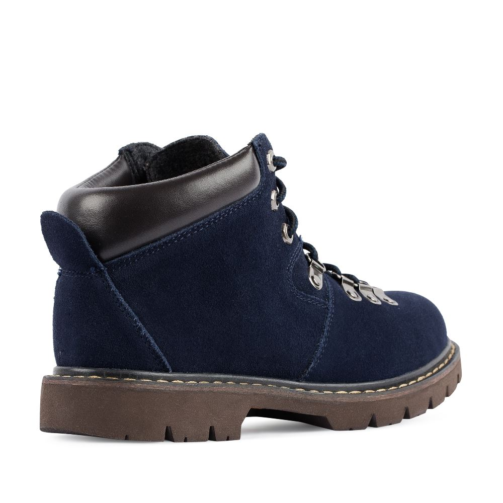 Женские ботинки CorsoComo (Корсо Комо) Ботинки из замши синего цвета на протекторной подошве
