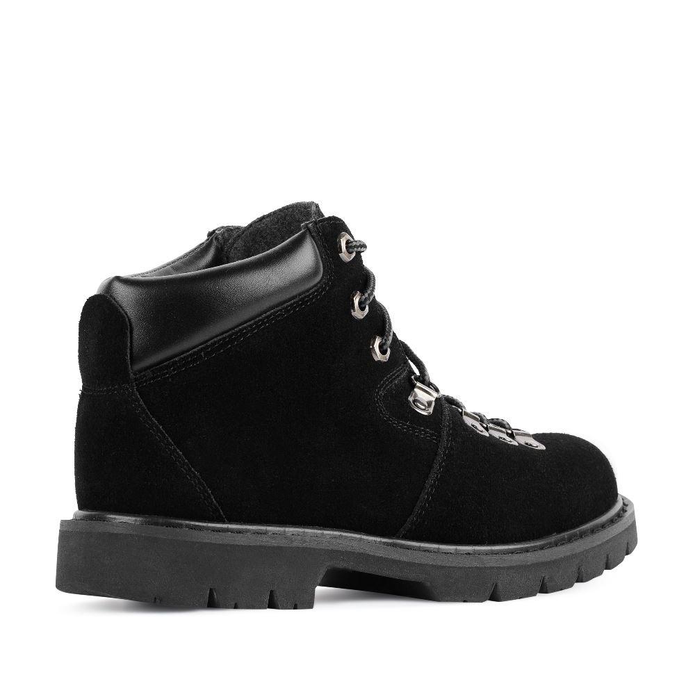 Женские ботинки CorsoComo (Корсо Комо) Ботинки из замши черного цвета на шнуровке
