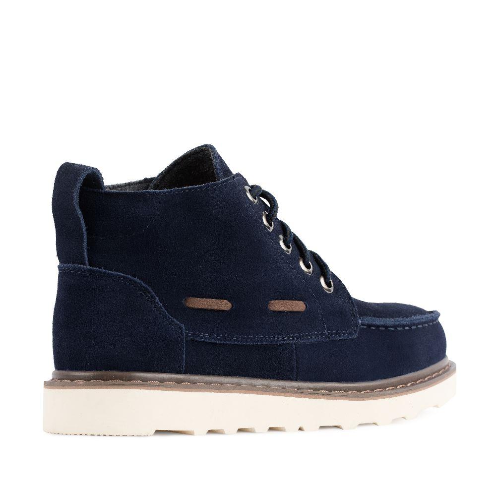 Женские ботинки CorsoComo (Корсо Комо) Ботинки синего цвета из замши на протекторной подошве
