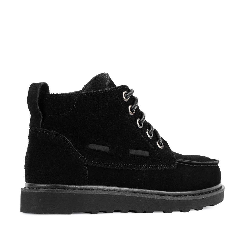 Женские ботинки CorsoComo (Корсо Комо) Замшевые ботинки черного цвета на протекторной подошве