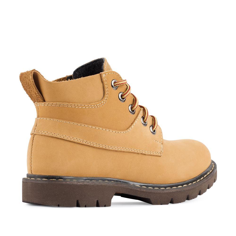 Женские ботинки CorsoComo (Корсо Комо) Ботинки из нубука бежевого цвета на протекторной подошве