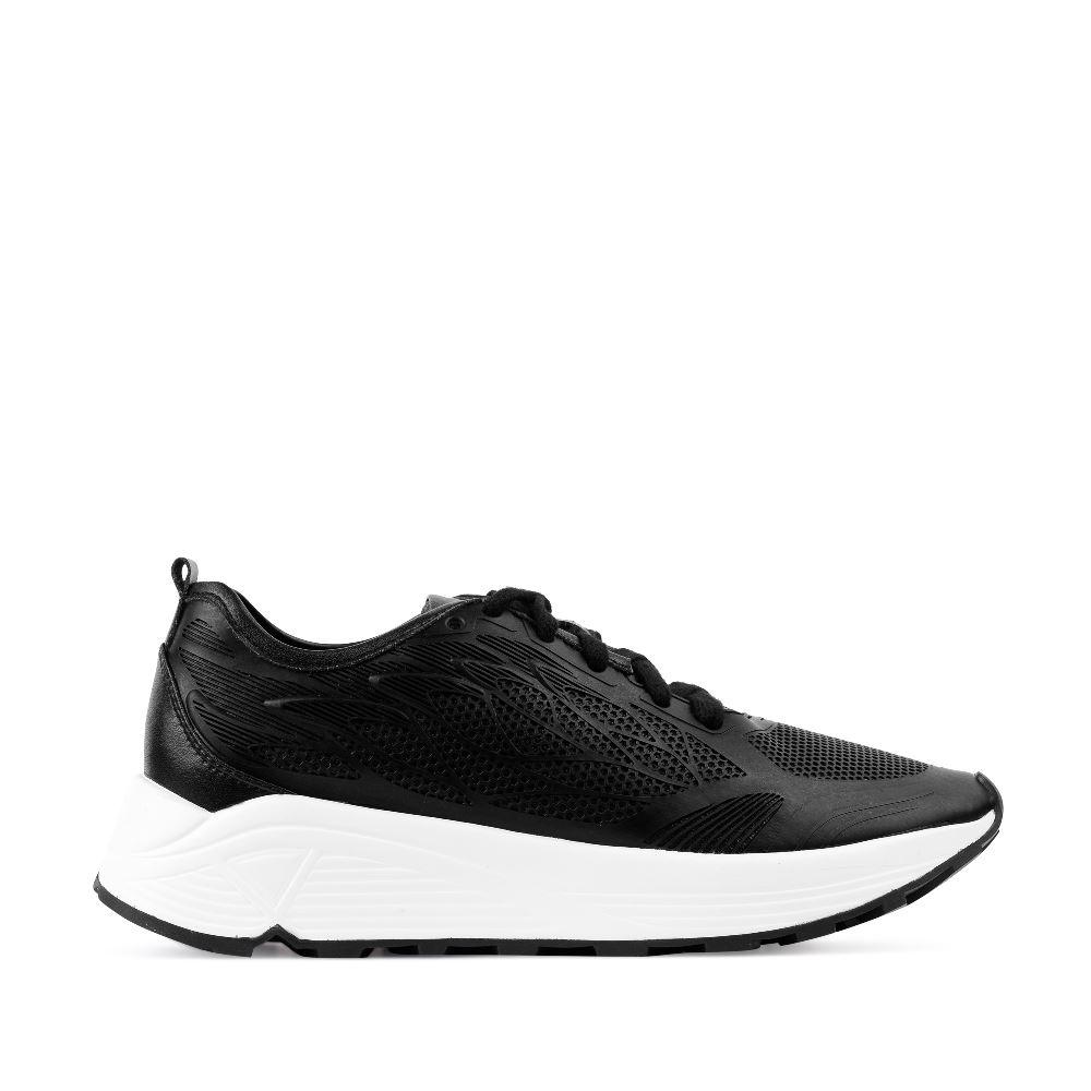 Кроссовки черного цвета с 3D принтом 10-2068-1